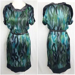Etro Milan Silk Dress with Velvet Accents